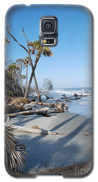 Galaxy S5 Case featuring the photograph Beach Erosion by Kathy Gibbons