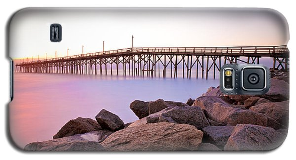 Beach Fishing Pier And Rocks At Sunrise Galaxy S5 Case