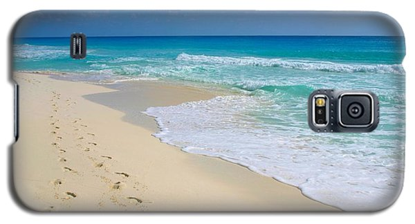 Beach Footprints Galaxy S5 Case