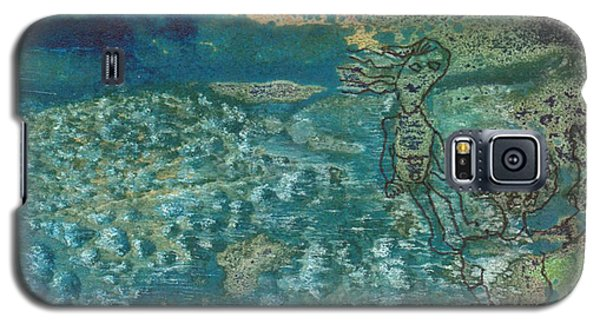 Galaxy S5 Case featuring the mixed media Beach Friends Flotsam And Jetsam by Catherine Redmayne