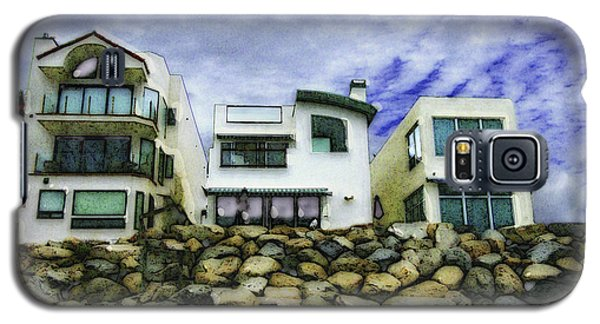 Beach Houses In Oceanside Galaxy S5 Case