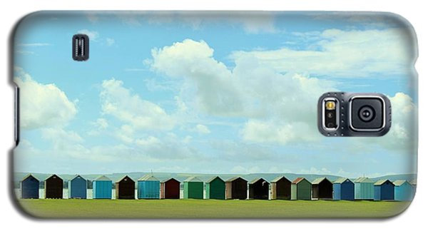 Beach Huts Galaxy S5 Case by Katy Mei