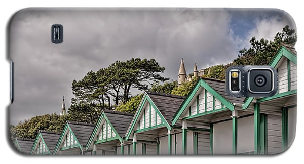 Beach Huts Langland Bay Swansea 3 Galaxy S5 Case
