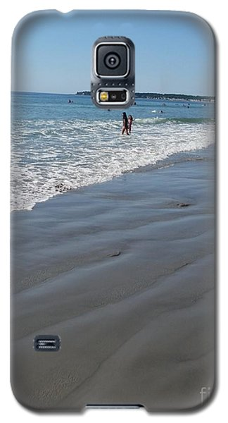 Galaxy S5 Case featuring the photograph beach in Maine by Rose Wang