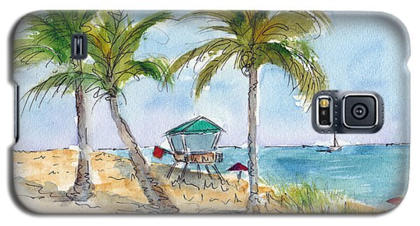 Beach In The Morning Galaxy S5 Case by Pat Katz