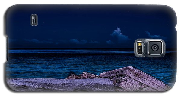 Beach Night Galaxy S5 Case by Randy Sylvia