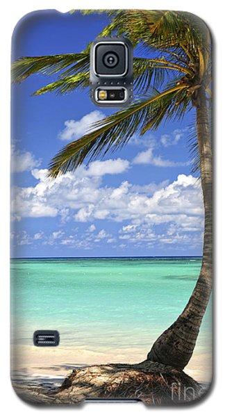 Beach Of A Tropical Island Galaxy S5 Case