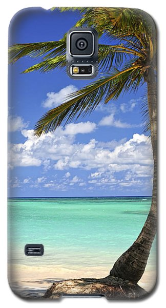 Beach Of A Tropical Island Galaxy S5 Case