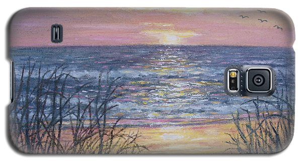 Galaxy S5 Case featuring the painting Beach Razzle Dazzle by Kathleen McDermott
