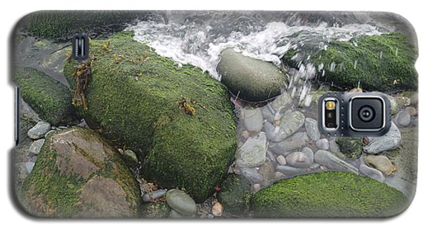 Galaxy S5 Case featuring the photograph Beach Rocks by Robert Nickologianis
