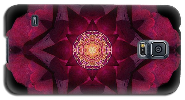 Galaxy S5 Case featuring the photograph Beach Rose I Flower Mandala by David J Bookbinder