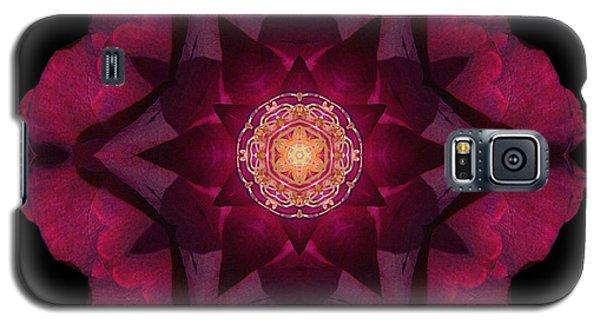 Beach Rose I Flower Mandala Galaxy S5 Case by David J Bookbinder
