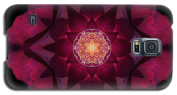 Beach Rose I Flower Mandala Galaxy S5 Case