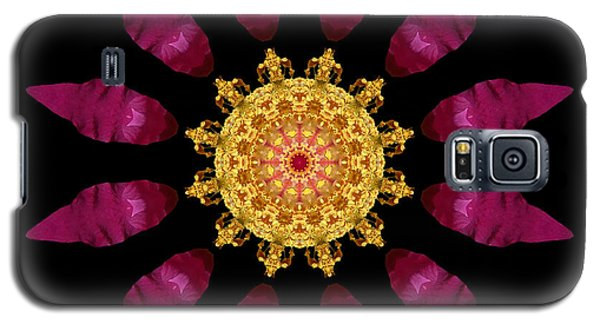 Beach Rose Iv Flower Mandala Galaxy S5 Case