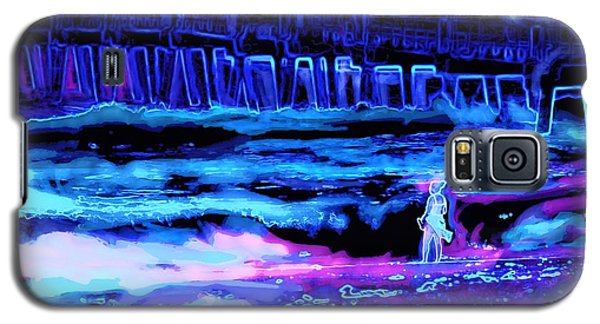 Beach Scene At Night Galaxy S5 Case