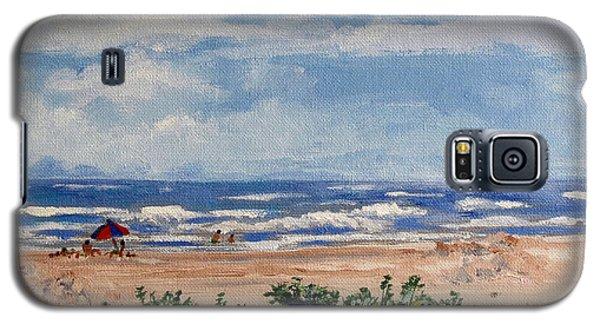 Beach Scene On Galveston Island Galaxy S5 Case