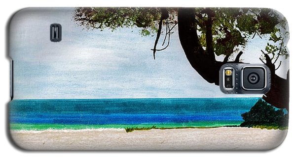 Galaxy S5 Case featuring the drawing Beach Side by D Hackett