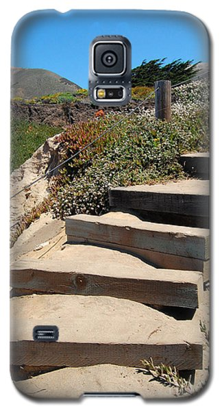 Galaxy S5 Case featuring the photograph Beach Stairs Big Sur by Debra Thompson