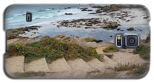 Galaxy S5 Case featuring the photograph Descending To The Beach Monterey by Debra Thompson