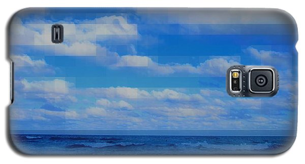 Beach Through Artificial Eyes Galaxy S5 Case