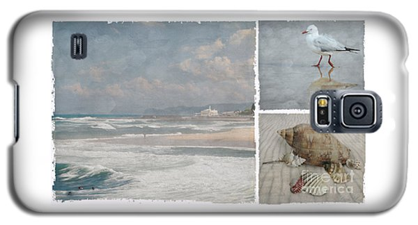 Beach Triptych 1 Galaxy S5 Case by Linda Lees