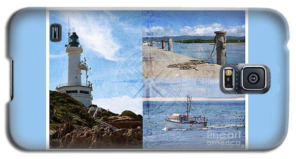 Beach Triptych 2 Galaxy S5 Case
