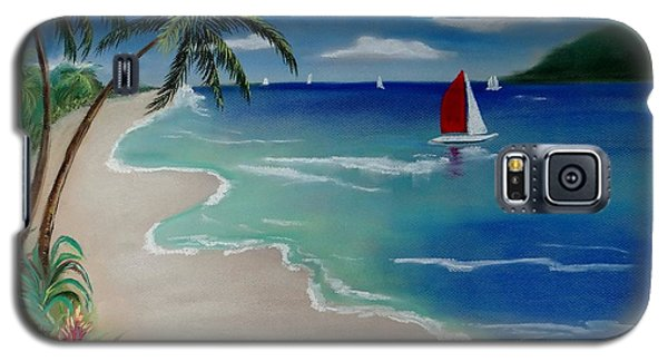 Beach With Sailboat Galaxy S5 Case