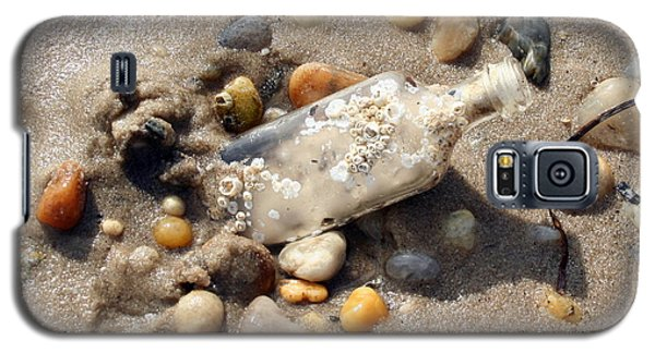 Galaxy S5 Case featuring the photograph Beached Bottle by Karen Silvestri