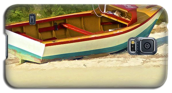Beached Fishing Boat Of The Caribbean Galaxy S5 Case