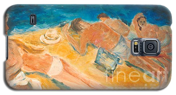 Galaxy S5 Case featuring the painting Beachscape   by Fereshteh Stoecklein
