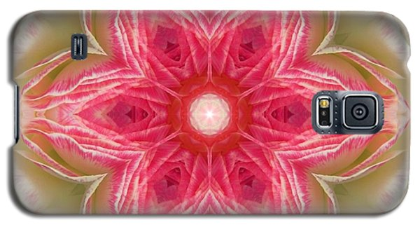 Beacon Of Light Rose Mandala Galaxy S5 Case
