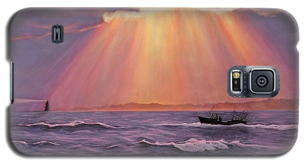 Galaxy S5 Case featuring the painting Beacons Of Light by Cindy Lee Longhini