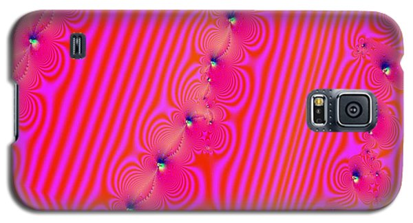 Galaxy S5 Case featuring the digital art Beaded Pink by Luther Fine Art