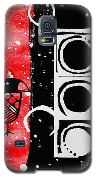 Galaxy S5 Case featuring the painting Beak In Red And Black by Cynthia Lagoudakis