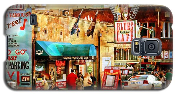Galaxy S5 Case featuring the photograph Beale Street by Barbara Chichester