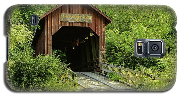 Bean Blossom Covered Bridge Galaxy S5 Case by Mary Carol Story