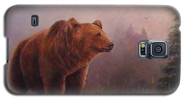 Galaxy S5 Case featuring the painting Bear In The Mist by Donna Tucker