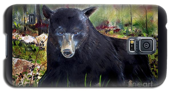 Bear Painting - Blackberry Patch - Wildlife Galaxy S5 Case