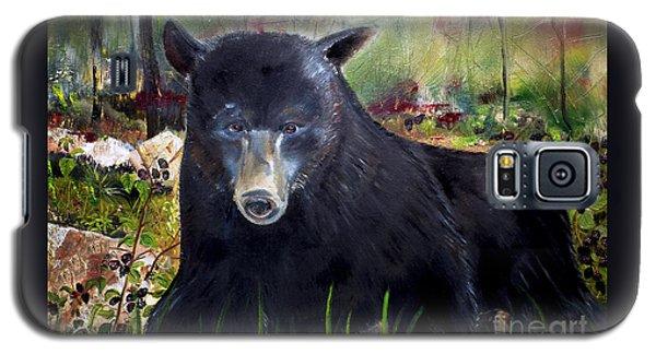 Bear Painting - Blackberry Patch - Wildlife Galaxy S5 Case by Jan Dappen