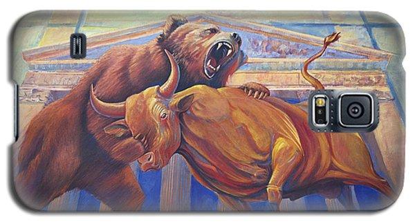 Bear Vs Bull Galaxy S5 Case by Rob Corsetti