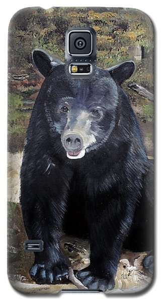 Galaxy S5 Case featuring the painting Bear - Wildlife Art - Ursus Americanus by Jan Dappen