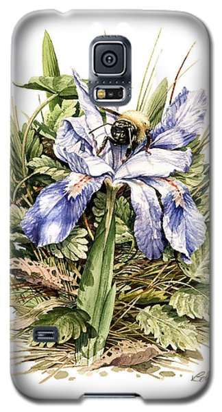 Galaxy S5 Case featuring the painting Bearded Dwarf Iris by Bob  George