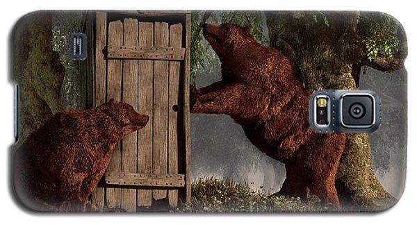 Bears Around The Outhouse Galaxy S5 Case by Daniel Eskridge