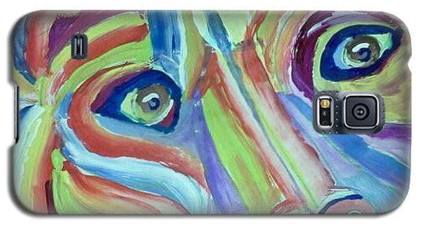 Galaxy S5 Case featuring the painting Bears Looking At You Kid by Carol Duarte