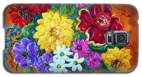 Galaxy S5 Case featuring the painting Beauties In Bloom by Eloise Schneider