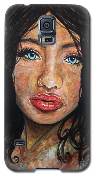 Galaxy S5 Case featuring the painting Beautiful Ambiguity by Malinda  Prudhomme