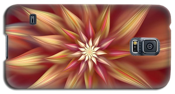 Beautiful Dahlia Abstract Galaxy S5 Case