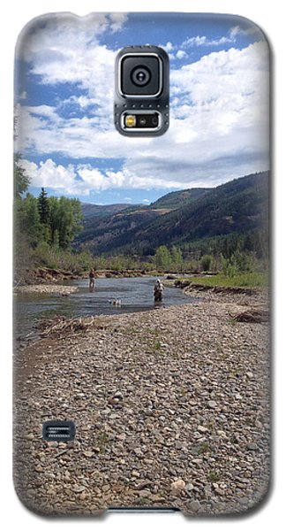 Beautiful Day On The River Galaxy S5 Case by Max Mullins