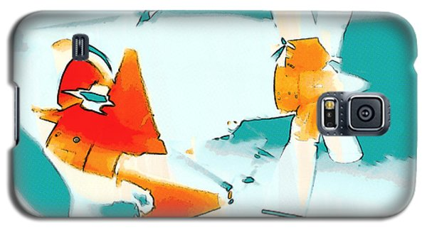 Galaxy S5 Case featuring the photograph Fixed Wing Aircraft Pop Art by R Muirhead Art