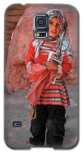 Beautiful Girl At Petra Jordan Galaxy S5 Case